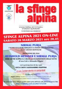 La Sfinge Alpina on_line 20-03-2021