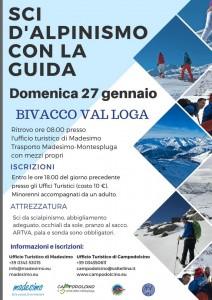 Sci alpinismo 27-01 Bivacco Val Loga