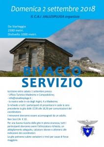 bivacco servizio 2 settembre 2018
